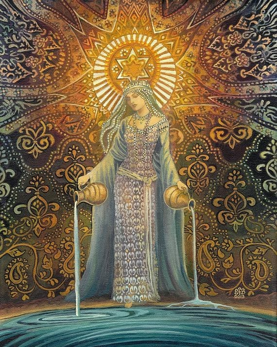 The Star Goddess of Hope Mythological Tarot Art
